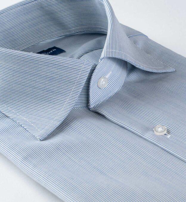 Reda Blue Fine Stripe Merino Wool