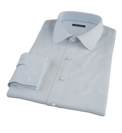 Canclini Light Blue 120s Broadcloth Men's Dress Shirt