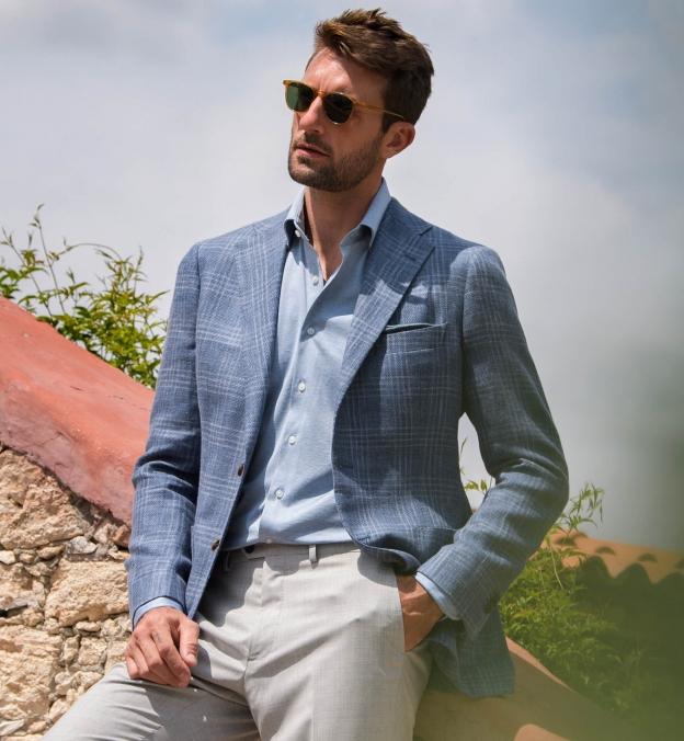 Canclini Light Blue Knit Jersey