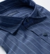 Thomas Mason Navy and Light Blue Chambray Stripe Shirt Thumbnail 2