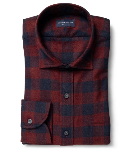 Canclini Scarlet and Navy Gingham Beacon Flannel