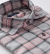Satoyama Light Grey and Faded Rose Plaid Flannel Shirt Thumbnail 2