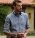 Vittoria Chambray Blue Linen Shirt Thumbnail 4