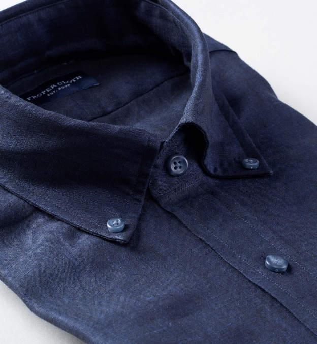 Grandi and Rubinelli Washed Navy Linen