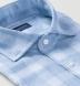 Light Blue Linen Plaid Shirt Thumbnail 2
