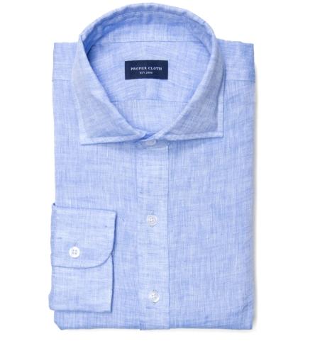 61f1a891416 Redondo Sky Blue Linen Men s Dress Shirt by Proper Cloth
