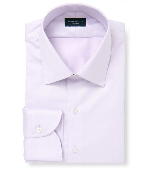 Hudson Wrinkle-Resistant Lavender Twill Custom Dress Shirt