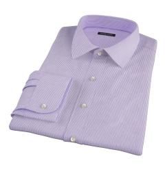 Carmine Lavender Pencil Stipe Fitted Shirt