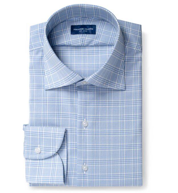 Reda Blue Glen Plaid Merino Wool