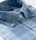 Portuguese Light Blue Large Melange Plaid Shirt Thumbnail 2