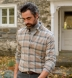 Canclini Camel Plaid Beacon Flannel Shirt Thumbnail 4