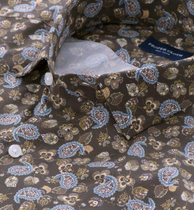 Albini Fatigue and Light Blue Paisley Print