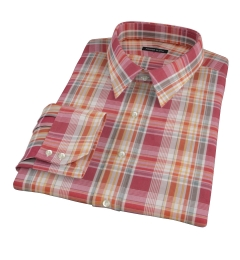 Canclini 120s Red Yellow Madras Tailor Made Shirt