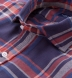 Japanese Vintage Navy and Red Plaid Shirt Thumbnail 2