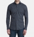 Vail Navy and Grey Gingham Lightweight Flannel Shirt Thumbnail 3