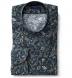 Albini Navy Green and Rose Vintage Floral Print Shirt Thumbnail 1