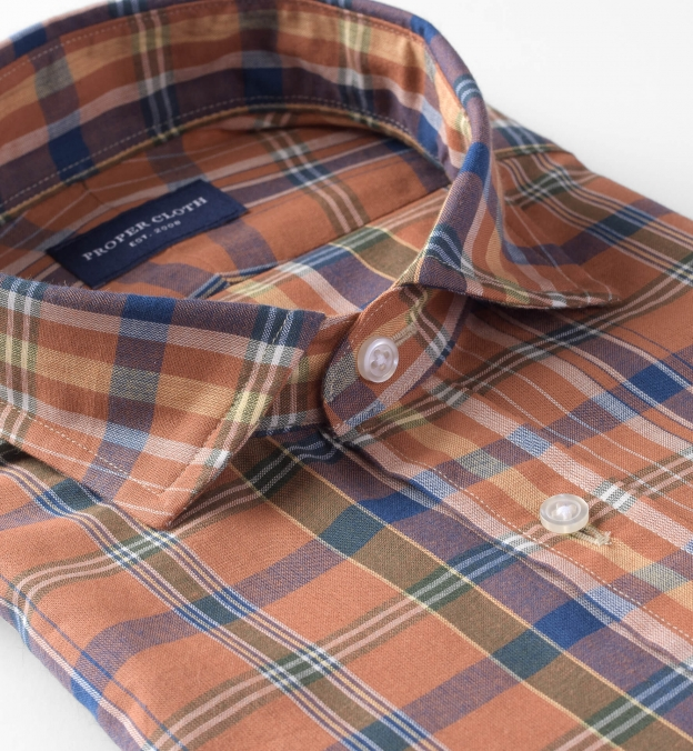 Rust and Navy Indian Madras