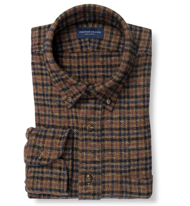 Japanese Washed Blue and Hickory Low Twist Plaid