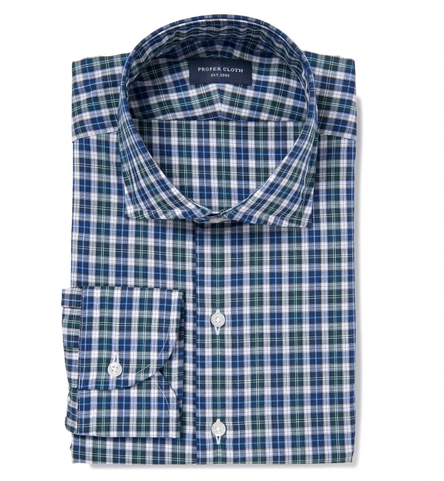 Albiate Pine and Navy Small Plaid