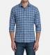 Canclini Blue Melange Tonal Plaid Beacon Flannel Shirt Thumbnail 3