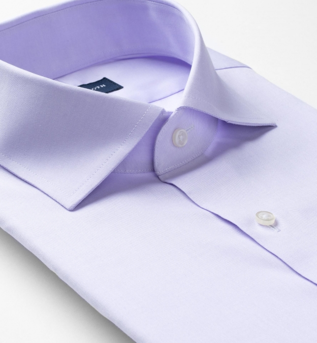 Non-Iron Supima Lavender Pinpoint