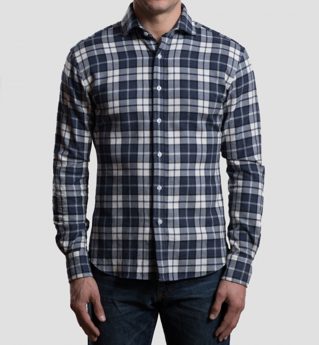Canclini Slate Plaid Beacon Flannel