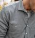 Canclini Grey Large Birdseye Beacon Flannel Shirt Thumbnail 3