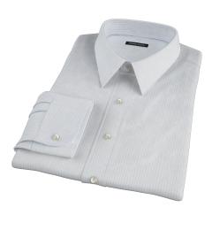 Mercer Light Blue Medium Grid Tailor Made Shirt