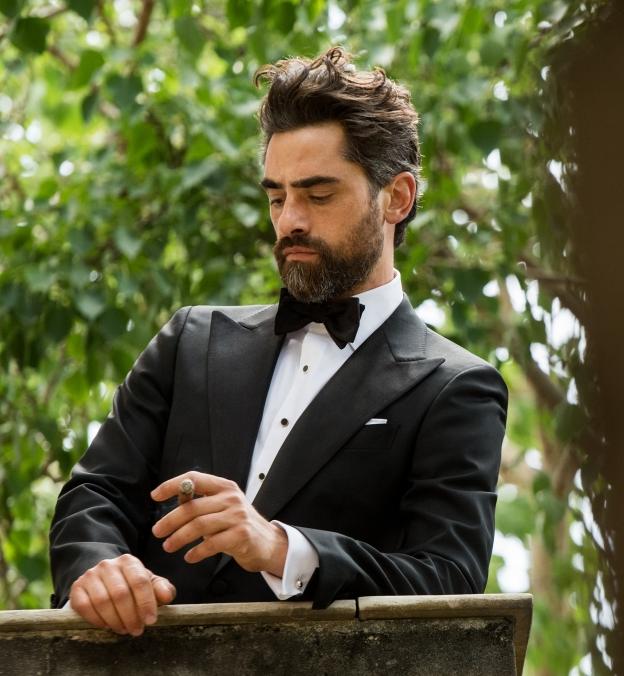 Thomas Mason White Royal Oxford Tuxedo Shirt