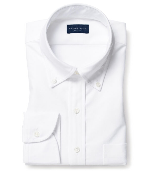 American Pima White Heavy Oxford