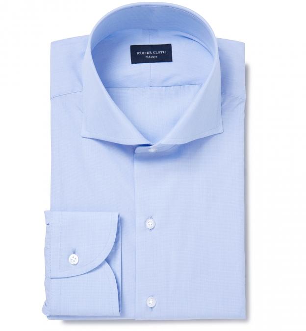 Miles 120s Light Blue End-on-End Men's Dress Shirt