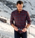 Canclini Red and Navy Plaid Beacon Flannel Shirt Thumbnail 3