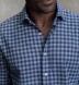Slate Blue Melange Gingham Donegal Flannel Shirt Thumbnail 3