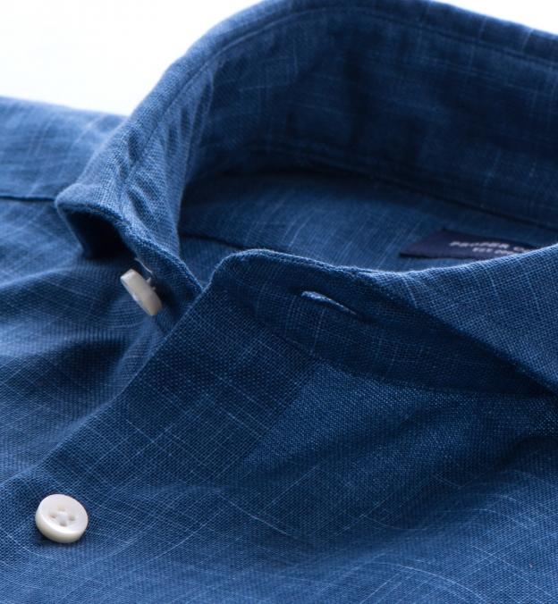 Washed Blue Japanese Slub Weave