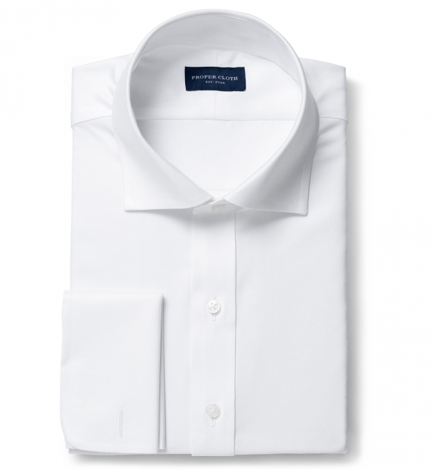 Sutton Wrinkle-Resistant White Imperial Twill Fitted Shirt