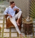Light Blue Bengal Stripe Linen Shirt Thumbnail 3