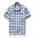 Portuguese Washed Slate and Sky Shadow Plaid Linen Shirt Thumbnail 2