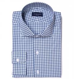 Lorimer Slate Blue Check Fitted Shirt