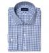 Slate Blue Lorimer Check Shirt Thumbnail 1