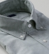 Thomas Mason Washed Sage Melange Cotton Linen Oxford Shirt Thumbnail 2