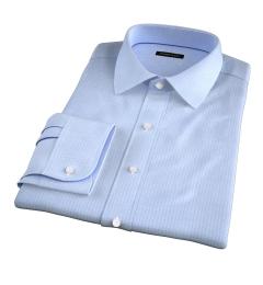 Morris Wrinkle-Resistant Light Blue Small Check Custom Made Shirt