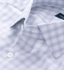 Livorno Grey End-on-End Check Shirt Thumbnail 2