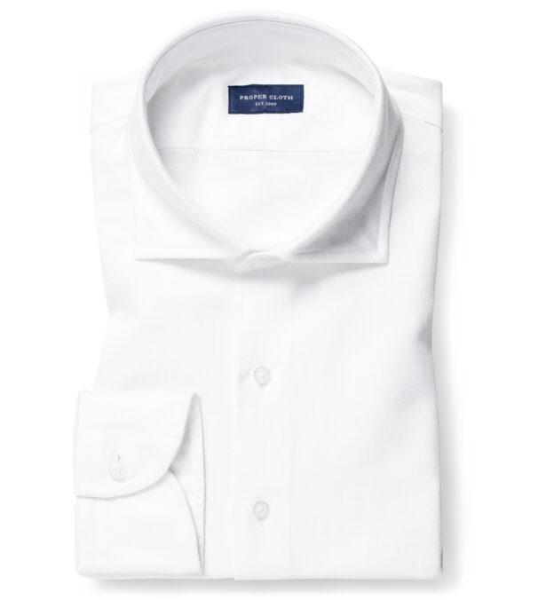 Albiate White Cotton Linen Denim