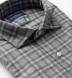 Stowe Light Grey Melange Plaid Flannel Shirt Thumbnail 2