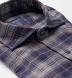 Whistler Navy Grey and Crimson Plaid Flannel Shirt Thumbnail 2