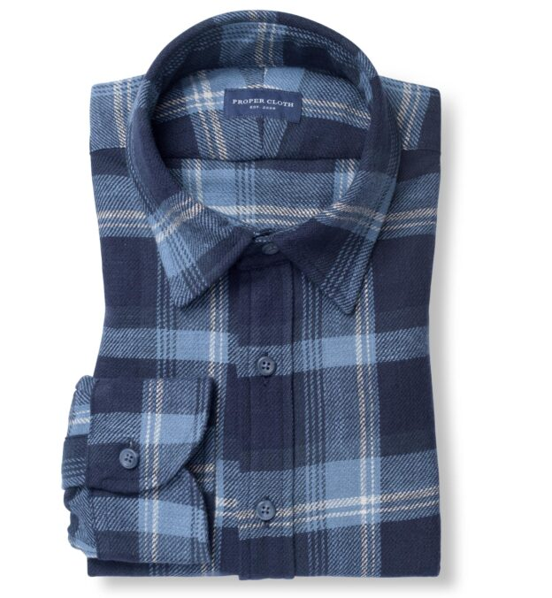 Japanese Washed Blue and White Country Plaid