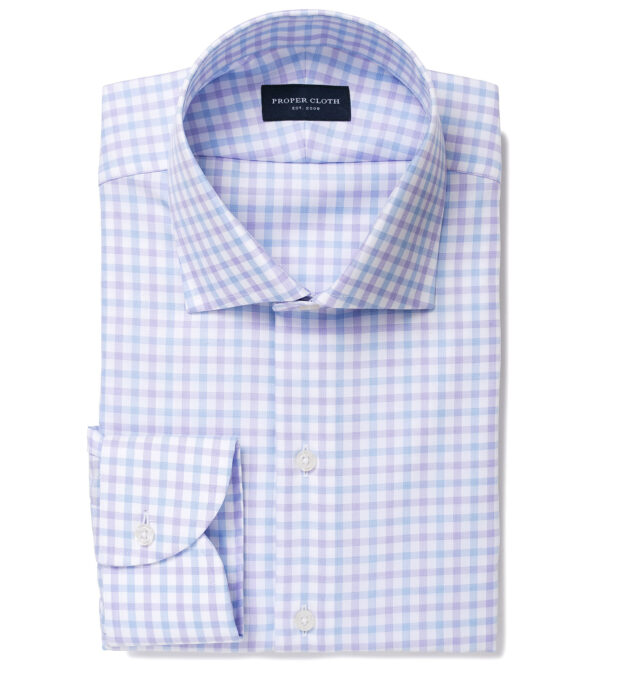 Mayfair Wrinkle-Resistant Lilac and Blue Check