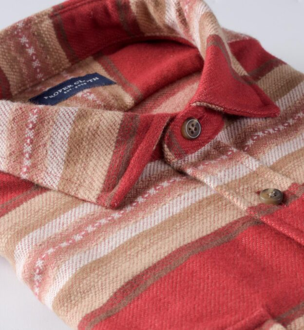 Red and Brown Southwest Blanket Stripe