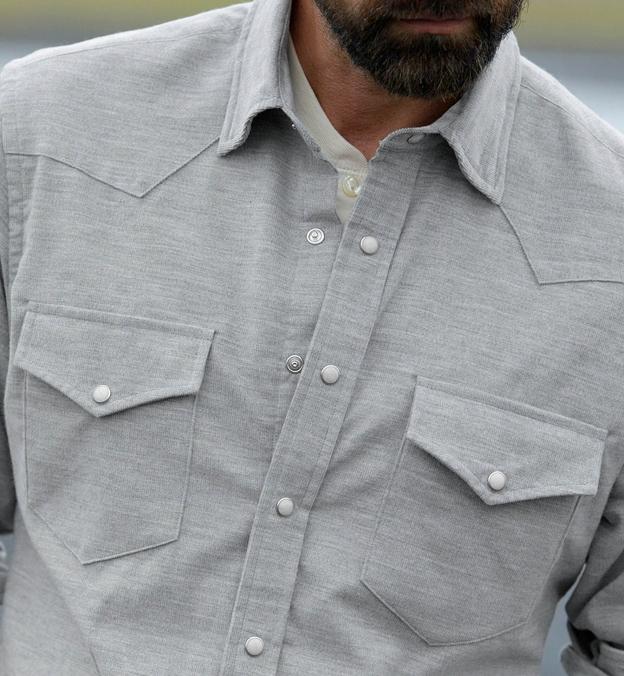 Japanese Grey Melange Pincord