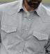 Japanese Grey Melange Pincord Shirt Thumbnail 3